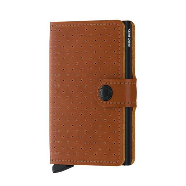 Cartera MPf Miniwallet Perforated Cognac