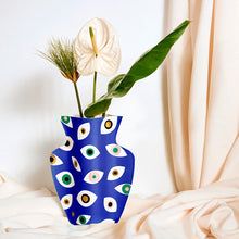 Load image into Gallery viewer, Paper Vase Nazar Blue