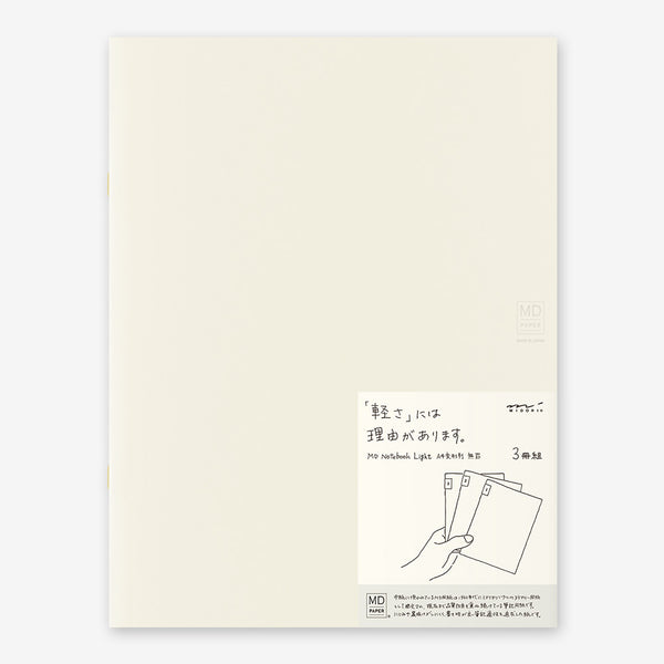 MD Notebook Light A4 Variant Blank (Pack of 3)