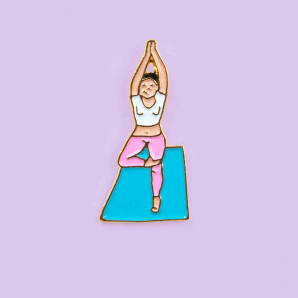 Yoga Salutation Pin