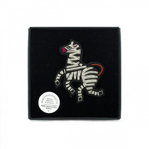Zebra Hand-embroidered Brooch