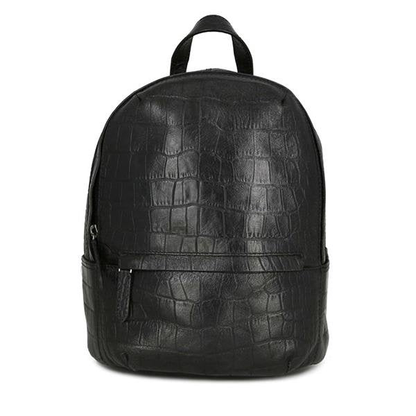 Sack Croco Backpack Petite Black