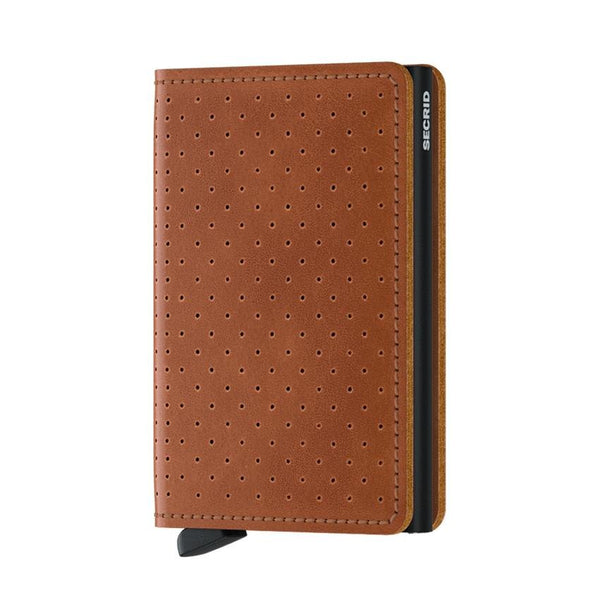 Cartera SPf Slimwallet Perforated Cognac