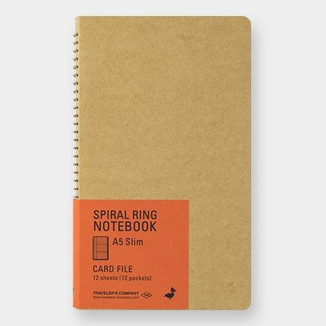 Cuaderno Spiral Ring A5 Slim Card File