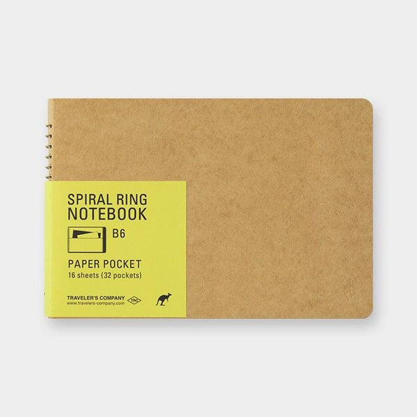 Cuaderno Spiral Ring B6 Paper Pocket