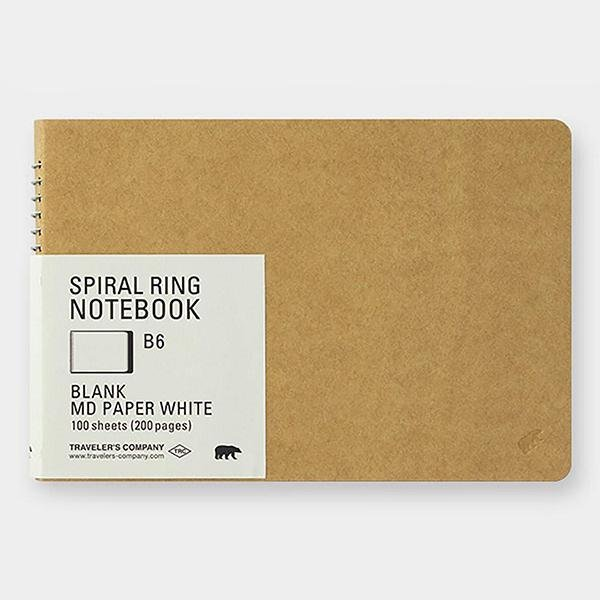 Cuaderno Spiral Ring B6 MD White