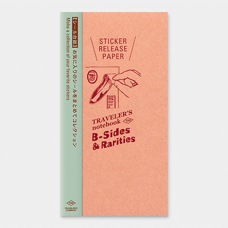 TRAVELER'S notebook B-Sides & Rarities Refill Sticker Release Paper Regular Size