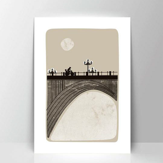 Viaducto Calle Segovia A4 Screen Print