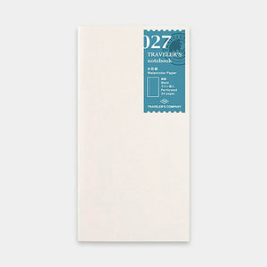 Traveler's Notebook Refill 027 Watercolor Paper - Regular Size