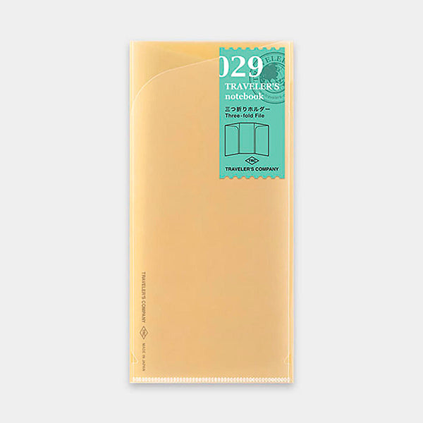 Traveler's Notebook Refill 029 Three-fold File - Regular Size