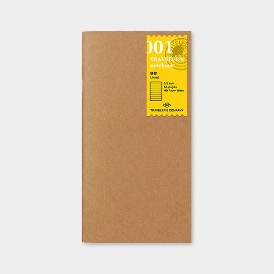 Traveler's Notebook Refill 001 Lined - Regular Size
