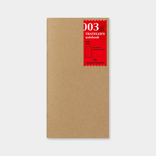 Traveler's Notebook Refill 003 Blank - Regular Size