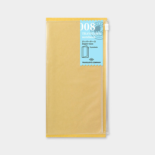 Traveler's Notebook Refill 008 Zipper Pocket - Regular Size