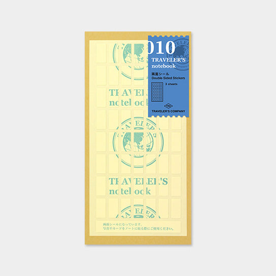 Traveler's Notebook Refill 010 Double-Sided Stickers - Regular Size