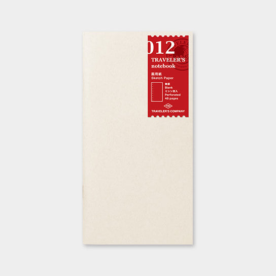 Traveler's Notebook Refill 012 Sketch Paper Notebook - Regular Size