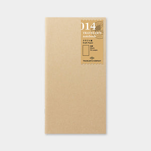 Traveler's Notebook Refill 014 Kraft Paper Notebook - Regular Size