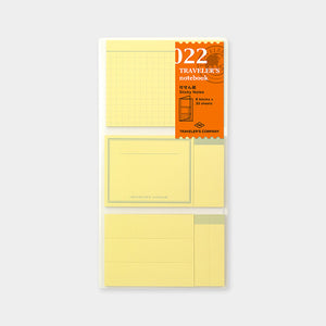 Traveler's Notebook Refill 022 Sticky Notes - Regular Size