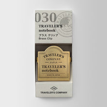 Load image into Gallery viewer, Traveler's Notebook Refill 030 Brass Clip TRC Logo