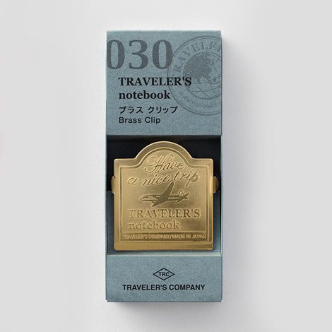 Traveler's Notebook Refill 030 Brass Clip Airplane