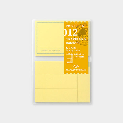 Traveler's Notebook Refill 012 Sticky Notes - Passport Size