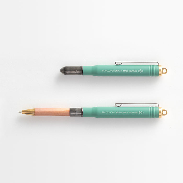 TRC Brass Ballpoint Pen Factory Green