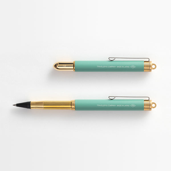 TRC Brass Rollerball Pen Factory Green