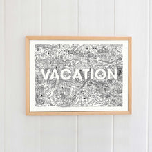 Load image into Gallery viewer, Vacation Giclée Print A4