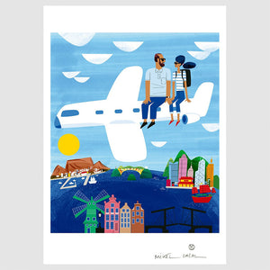 Traveling Together Fine Art Paper Print A3