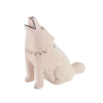 Pole Pole Wooden Animal Wolf