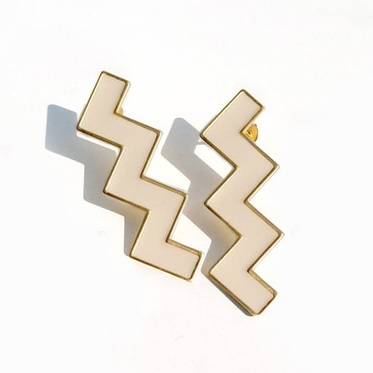 Zs Earrings Beige