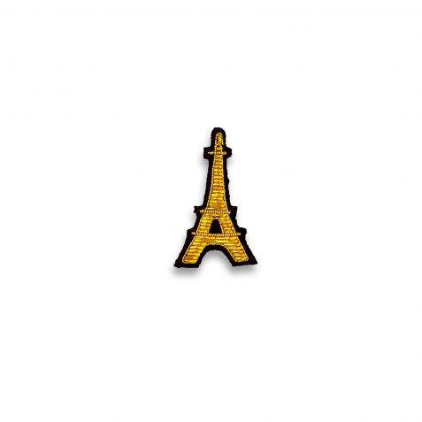 Eiffel Tower Hand-embroidered Pin