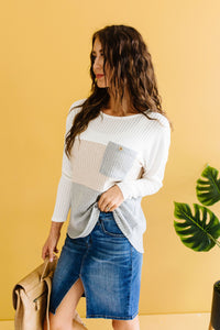 Color Block Pointelle Top