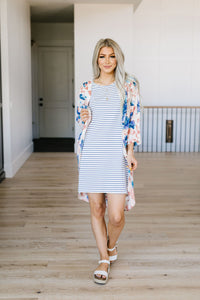 Buttoned To A T-Shirt Dress
