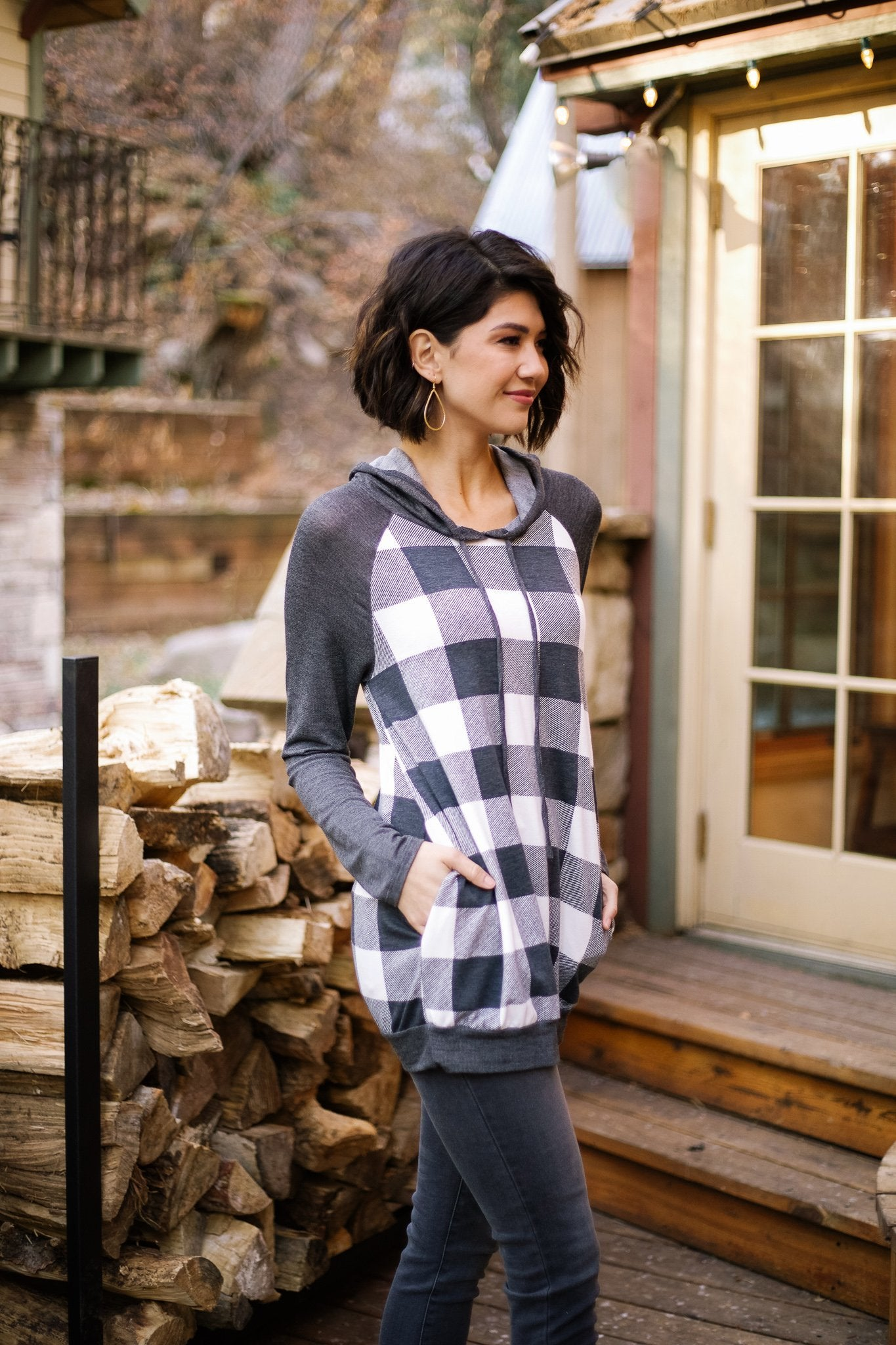 Good Or Plaid Raglan Hoodie