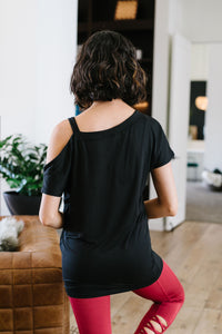 One Shoulder Bare Tunic