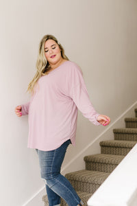 Pink Lavender Textured Top