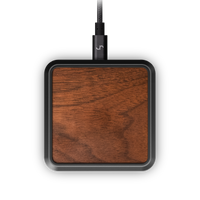 premium luxury wireless charger 10W fast charge walnut recycled aluminium joy resolve barisieur