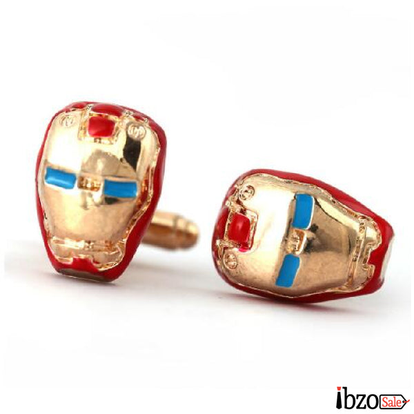 Superhero Zinc Alloy Cuff Buttons Cufflinks - Ibzo Sale