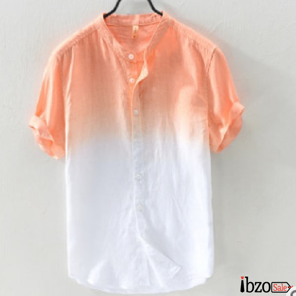 Gradient Short Sleeve Shirts - Ibzo Sale