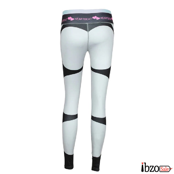 Heartbeat Print Ankle-Length High Waist Leggings