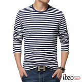 Long-Sleeve Stripe T-Shirts - Ibzo Sale