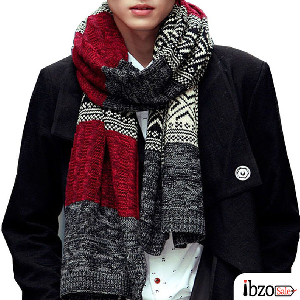 Unisex Warm Acrylic Winter Scarves - Ibzo Sale