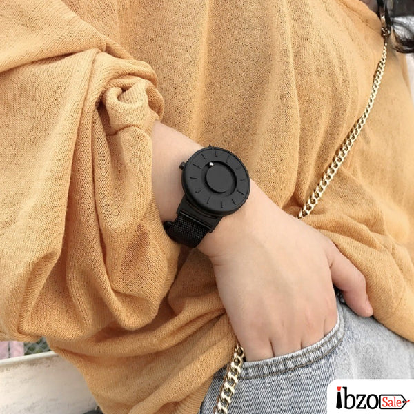 Unisex Nylon Strap Magnetic Ball Watches