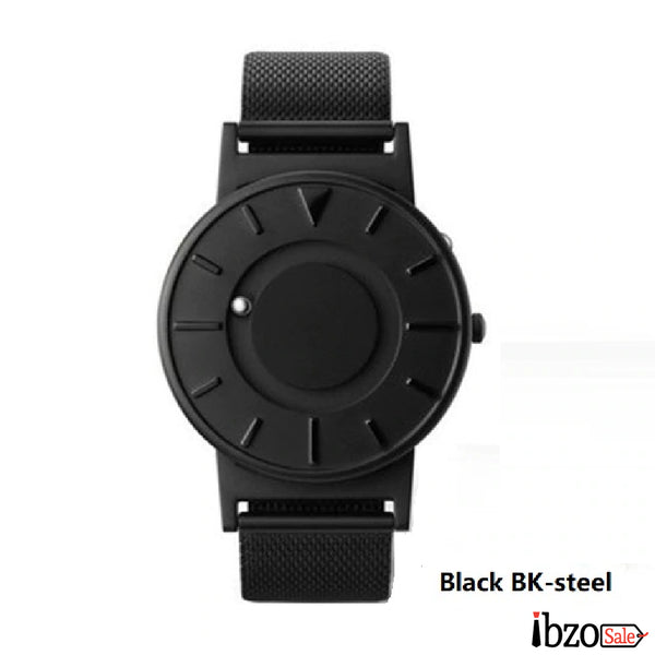 Unisex Casual Stainless Steel Magnetic Ball Watches