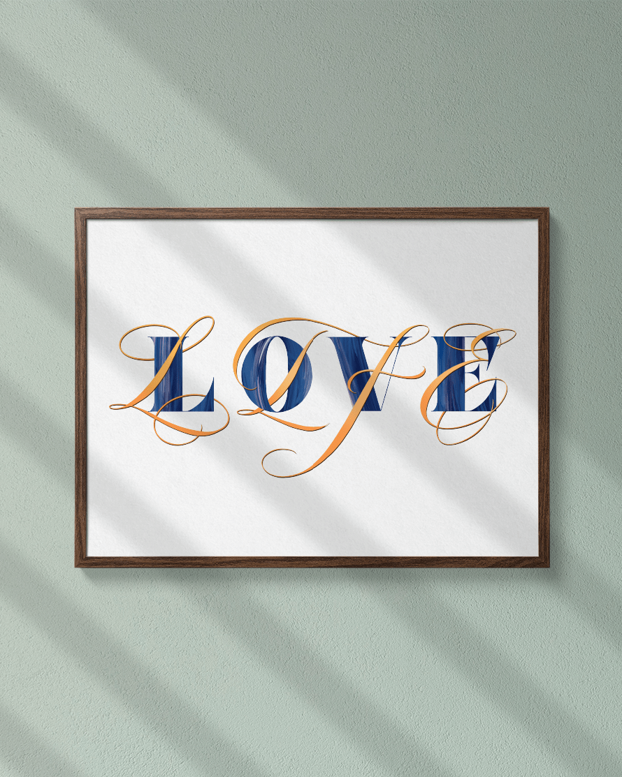 Love Life ✶ Lettering Art Print - Passion Parade Co.