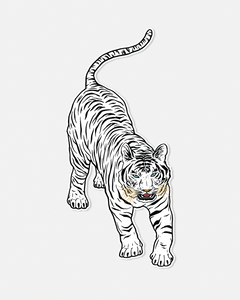 Run Wild, Live Free - White Bengal Tiger ✶ Sticker
