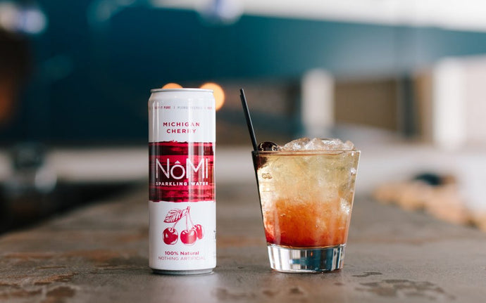 NôMI Cherry and Whiskey Spritz