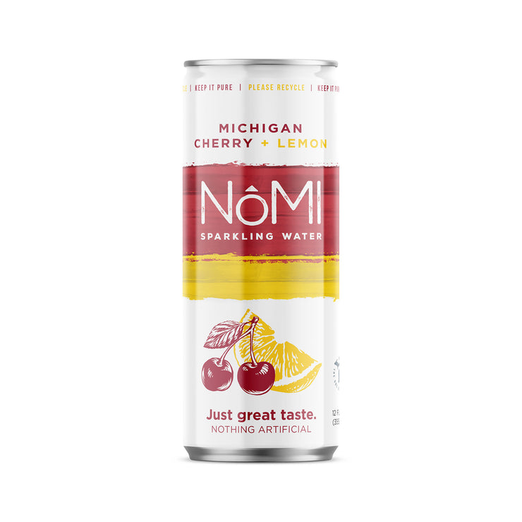 Michigan Cherry + Lemon Sparkling Water - 24 Pack