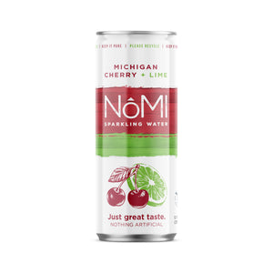 Michigan Cherry + Lime Sparkling Water - 24 Pack
