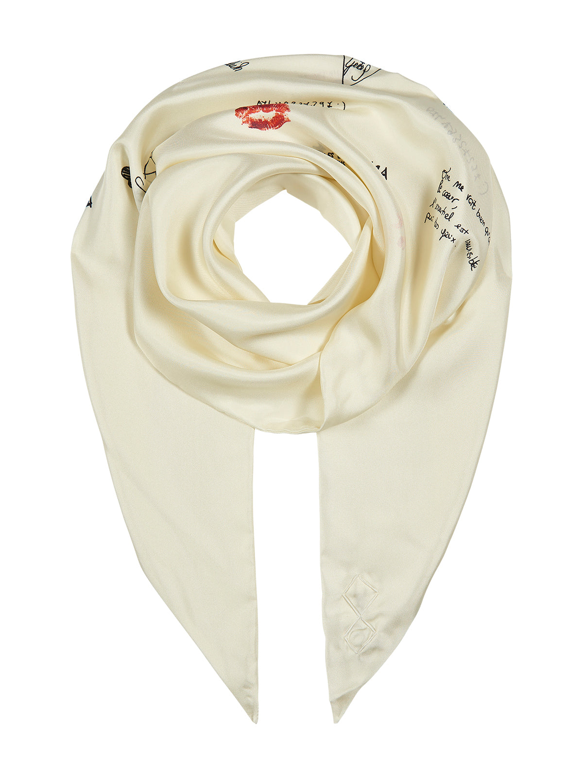 Silk Tubolar scarf in white